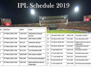 IPL Schedule 2019 For First 2 Weeks
