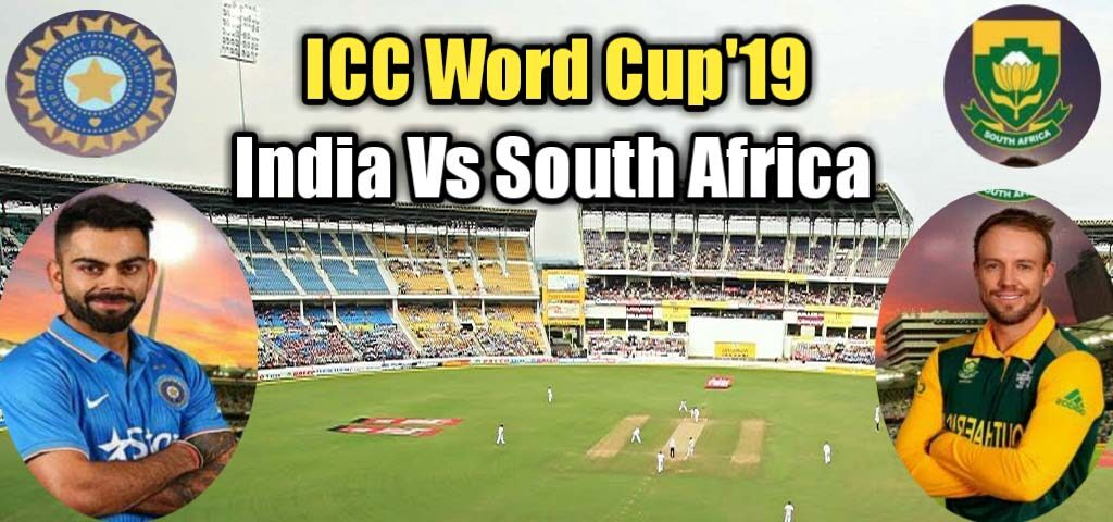 South Africa Vs India Cricket World Cup 2019 Cricket World
