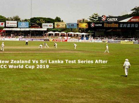 New Zealand Vs Sri Lanka Test Series After World Cup